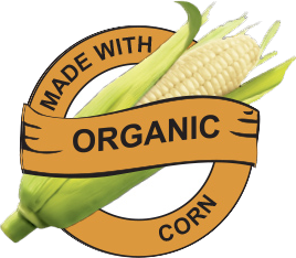 Made with Organic White Corn logo