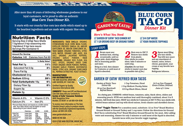 Blue Corn Taco Dinner Kit