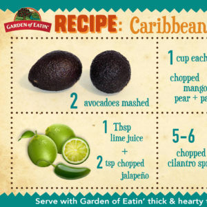 Caribbean Guacamole Recipe Card