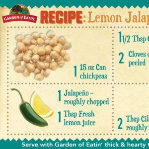 Lemon Jalapeno Hummus