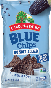 Blue Tortilla Chips with No Salt Added